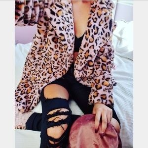 Jackets & Blazers - 🆕️//Bloggers Fave Collection// pink leopard coat